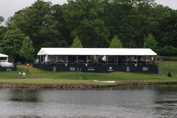 Exterior of Dining Chalet at #17 green